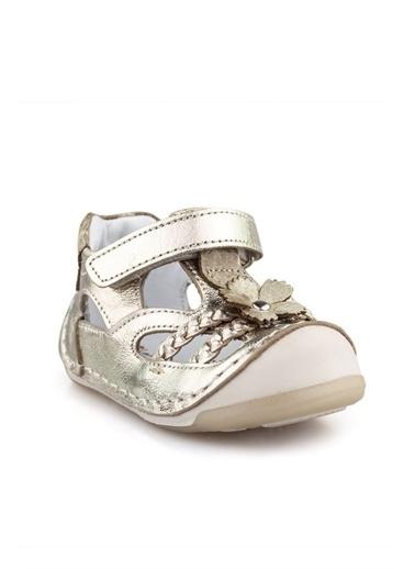 Cici Bebe Ayakkabı Deri Kız Çocuk Sandalet Bronz
